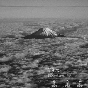 2019年12月14日(土)午前5時の気温3.9度、湿度79%、東京の夜明け前です。 写真は昨日の富士山です。