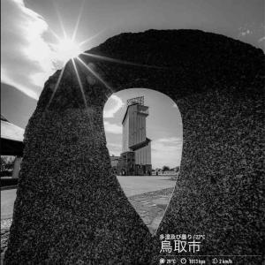 2020年7月29日(水)午前6時の気温23.8度、湿度94%、雨降りで迎える鳥取市滝山の朝です。 写真は先日の因幡万葉歴史館・時の塔です。