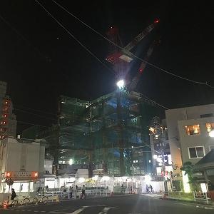 池上駅の建替え工事(進捗)