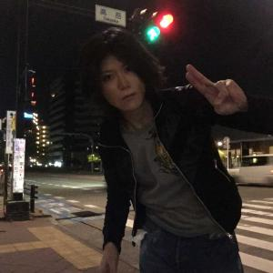 夜の名古屋、高岳交差点