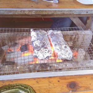 ミカンと牡蠣焼