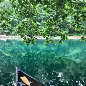 2019北海道フェリーマイカー&キャンプの旅②1日め、支笏湖でカヌーと湖水浴とヒメマス!