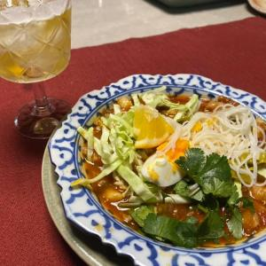タイ料理作った!カノムチン・ナムギャオ ขนมจีนน้ำเงี้ยว
