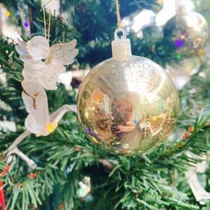 クリスマスツリー点灯!と、蟹