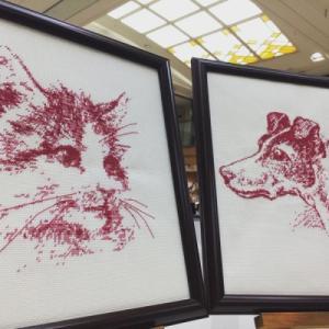 犬と猫の図案、キット販売中