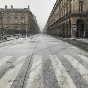 初雪と外出制限と。