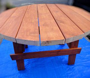 DIY ガーデンテーブル(11)