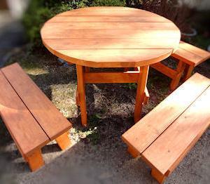 DIY ガーデンテーブル(完)