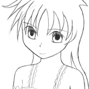 美少女CG原画をアップしてみる。