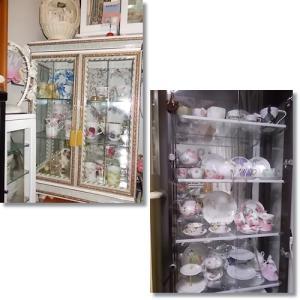 ポーセラーツ作品の飾り棚