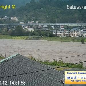 2019/10/12 酒匂川、台風接近・警戒レベル3