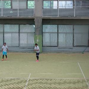 県民体育大会ソフトテニス選考会。。。。