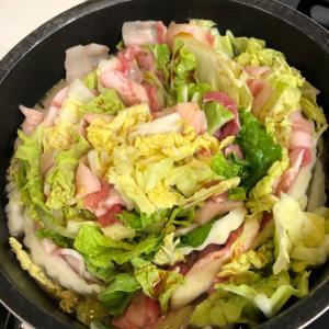 豚バラと白菜のミルフィーユ鍋☆
