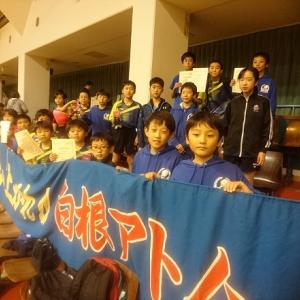 第2回県小学生ランキング戦戦士23人の結果、敢闘賞は全勝のAO海とKN野1と2位のSS川!