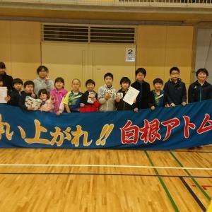 県小学生団体戦の結果、男子A2位、女子A3位!