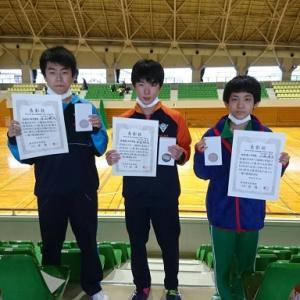 県中学新人個人戦の結果、2年男子2位A達、1年男子3位S山とユウリ!