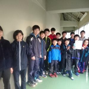 つばめジュニアオープン大会結果、Bクラス男子2位くまさん!