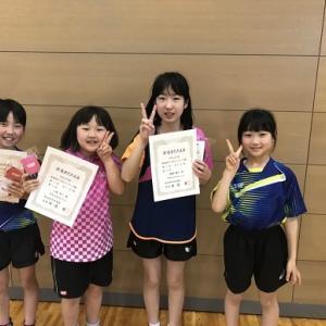県小学生ランキング戦、アトム戦士男子14人、女子5人の結果です!