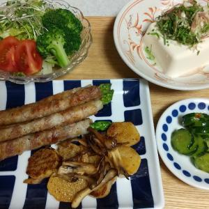 ゆるやかに野菜攻めなひとり晩酌おつまみ、とツレのお夜食。