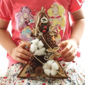 キッズレッスン)2組3人のクリスマスツリー