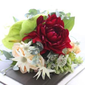 お花のお渡し ダリアとアンスリュームで