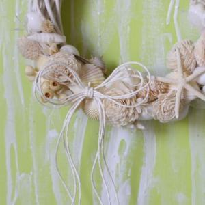 定番のお花と貝殻の丸いリースレッスン