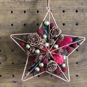 クリスマスレッスンのサンプル、星型つくりました