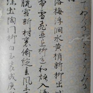 仮名の昇級試験~青硯書道会
