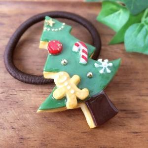 クリスマス作品① アイシングクッキーのヘアゴム