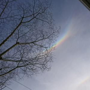 珍しい【逆さ虹】を見ました♪