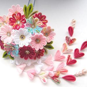 レトロ風合いの小菊のかんざしとお教室ご連絡