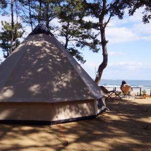 海キャンプ♪大洗サンビーチキャンプ場①