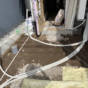 外構 PF管地中埋設準備 施主施工