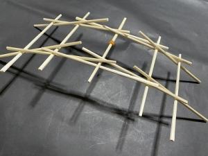 「ダ・ビンチの橋」~箸で橋を作る