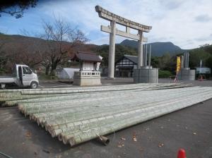 2020年 橘神社「大門松」造り