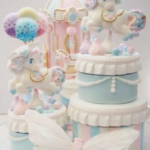 New!Dreaming angel unicorn cake box