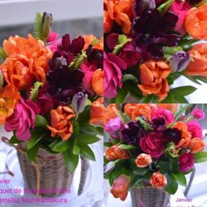 1月パリのお花屋さんレッスン