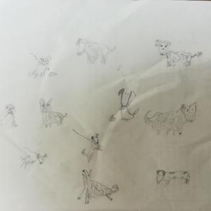 ぷー画伯 犬たち