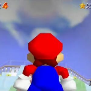 マリオ64のはねスイッチの場所、自力で気付くのは不可能な模様