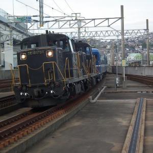 9303レ急行「阿蘇」を撮影にスペースワールド駅へ行きました。