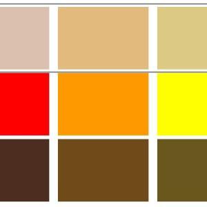 どうしても、合わない色相と組み合わせたいときの配色は