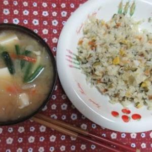 おうちランチ・高菜炒飯