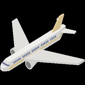 立体的な黄色い飛行機のイラスト