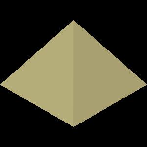 立体的なピラミッドのイラスト