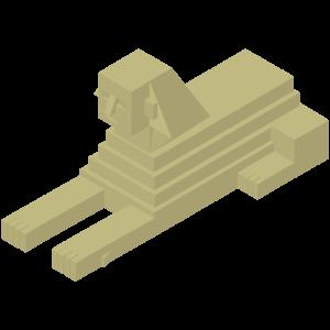 立体的なスフィンクスのイラスト