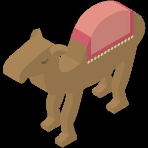 立体的なラクダのイラスト
