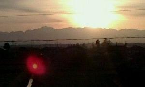 日は登り日は沈む・・・。