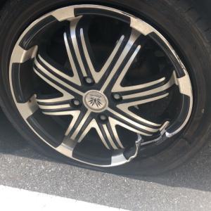 タイヤ空気圧点検・空気圧調整は車検のときからタイヤ点検をしていなかったら(T ^ T)