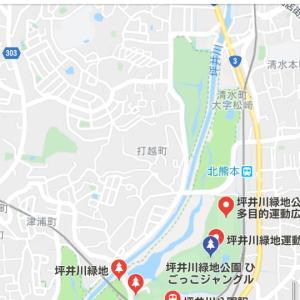 坪井川緑地公園と早朝ラン