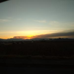 早朝ランPB 阿蘇噴火 ライトレーサー